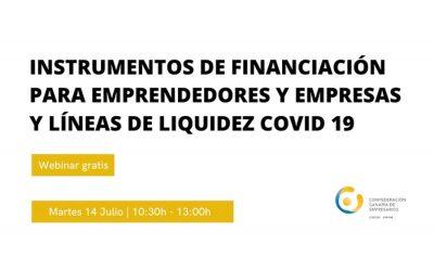 Webinar «Instrumentos de financiación para emprendedores y empresas y líneas de liquidez COVID 19»