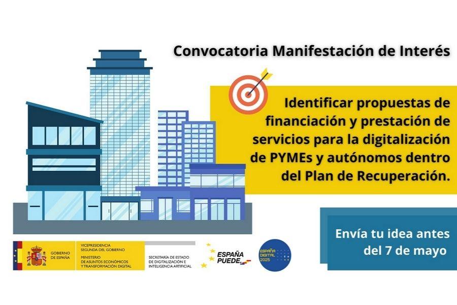 Consulta para identificar propuestas para el despliegue eficiente del plan para la digitalización de pymes y autónomos