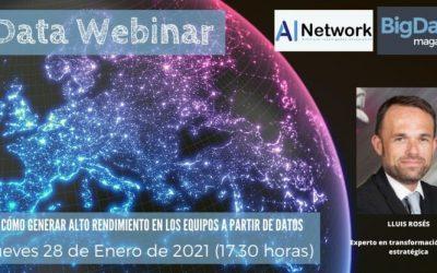 Data Webinar: Cómo generar Alto Rendimiento en los equipos a partir de datos