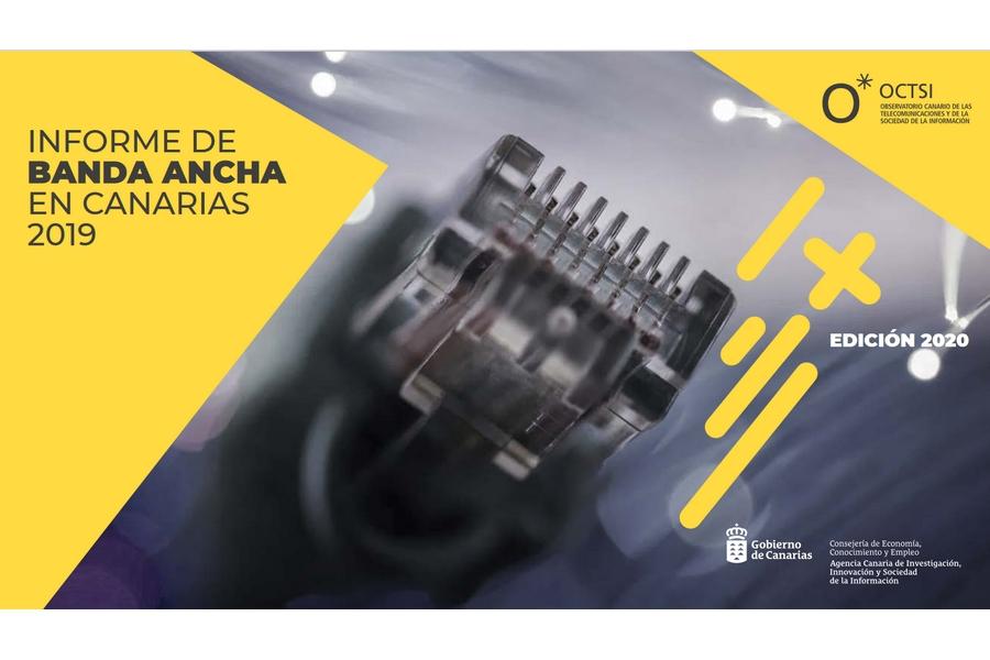 Cobertura de banda ancha en Canarias en 2020