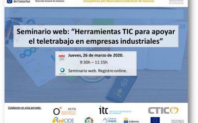 Seminario web: «Herramientas TIC para apoyar el teletrabajo en empresas industriales»