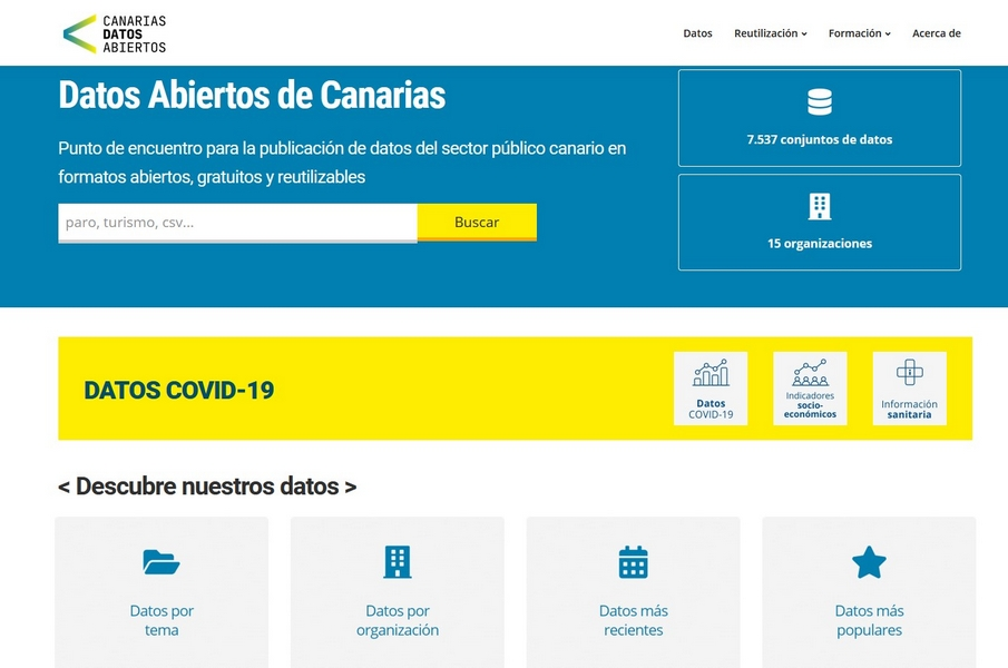 El Gobierno de Canarias crea el portal de datos abiertos con el catálogo más amplio de toda España