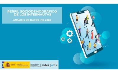 Perfil sociodemográfico de los internautas. Análisis de datos INE 2020