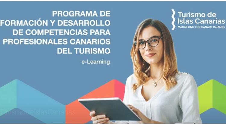 El nuevo programa e-learning ofrece más de 40 cursos gratuitos a profesionales del sector turístico canario