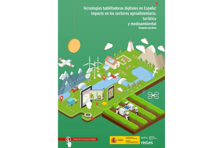 Tecnologías habilitadoras digitales en España: impacto en los sectores agroalimentario, turístico y medioambiental